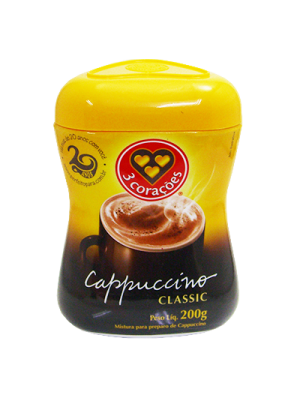 Cappuccino Classic 200g TRES CORACOES